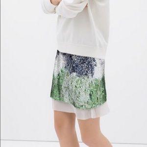 NWOT Zara Sequin Skirt